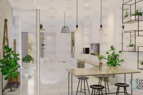 Desain ruang makan skandinavia