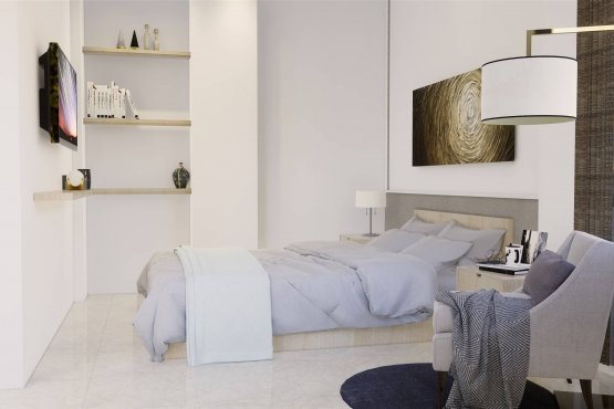 Kamar tidur gaya klasik modern