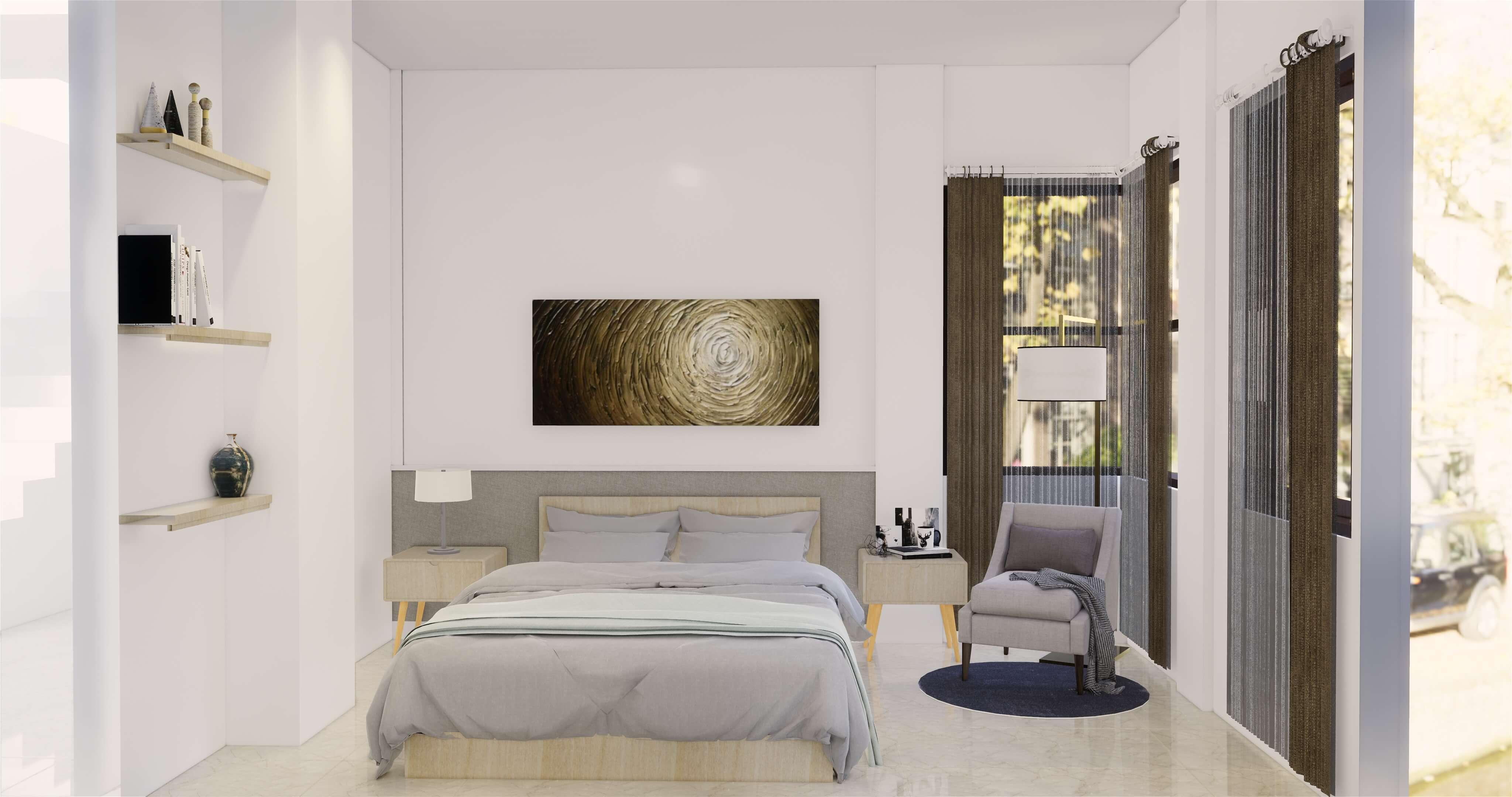 desain kamar tidur gaya modern klasik