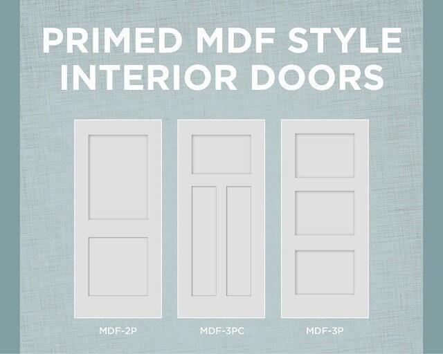 mdf style interior doors