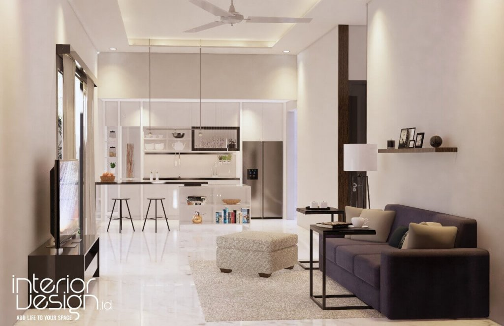 Desain ruang keluarga dan pantry
