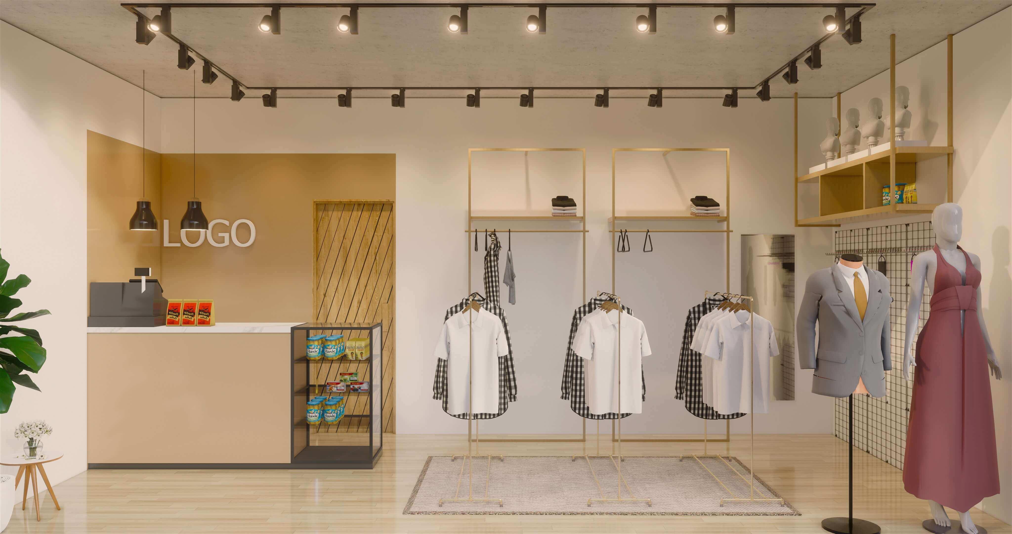 Desain Toko Baju Sederhana Kecil Cek Bahan Bangunan Desain toko busana muslim