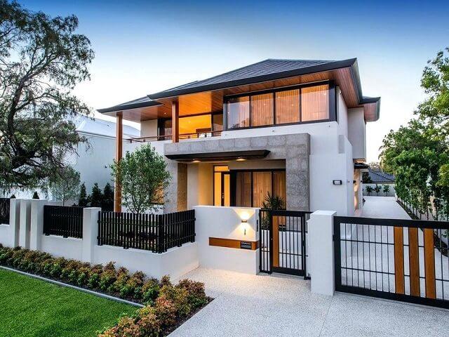 7 Pilihan Desain Pagar Rumah Untuk Halaman Depan Belakang Dan Area Taman Interiordesign Id