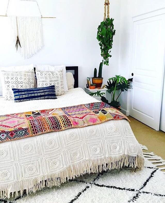 kamar tidur gaya bohemian