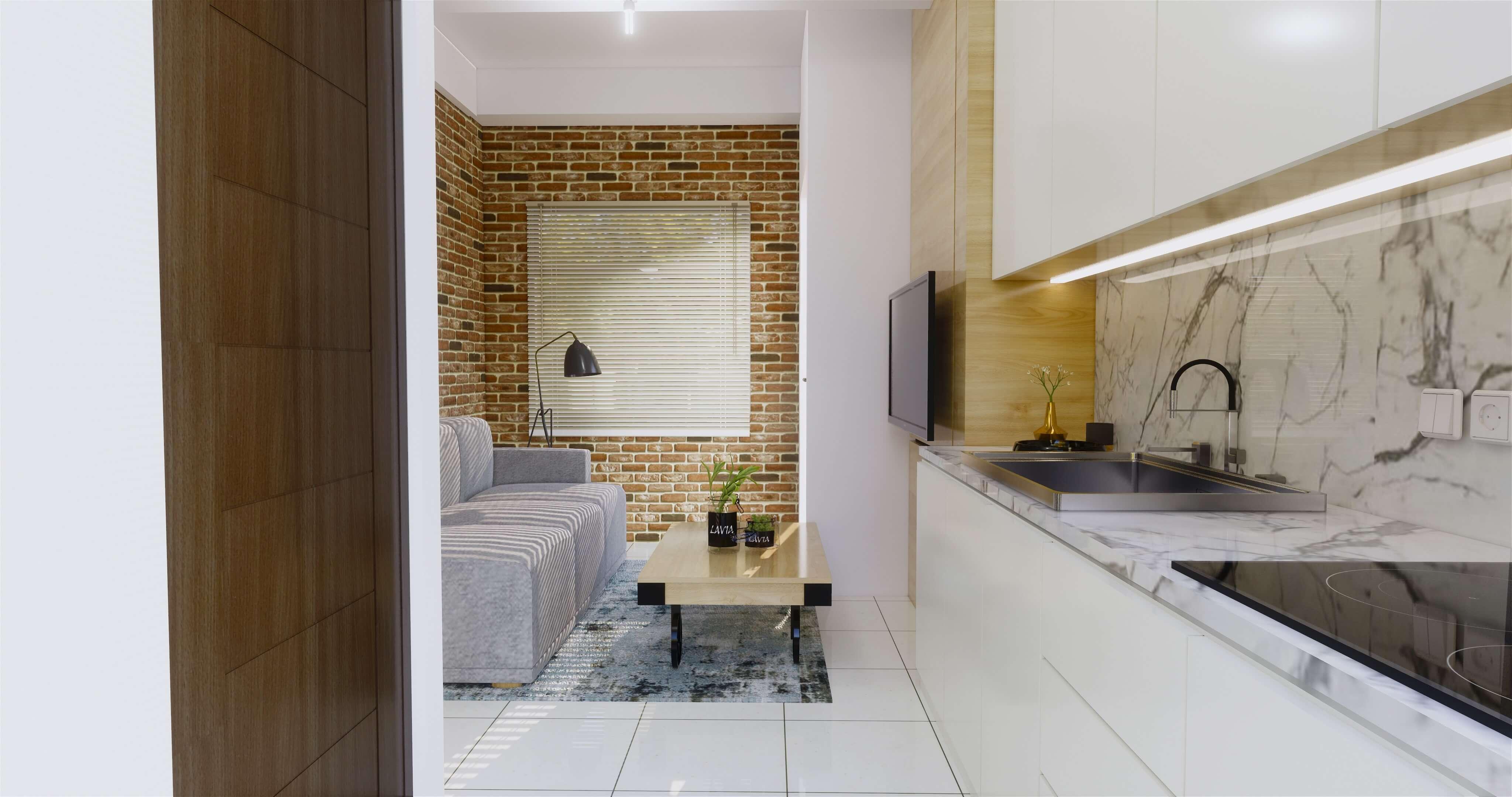 Desain interior apartment industrial