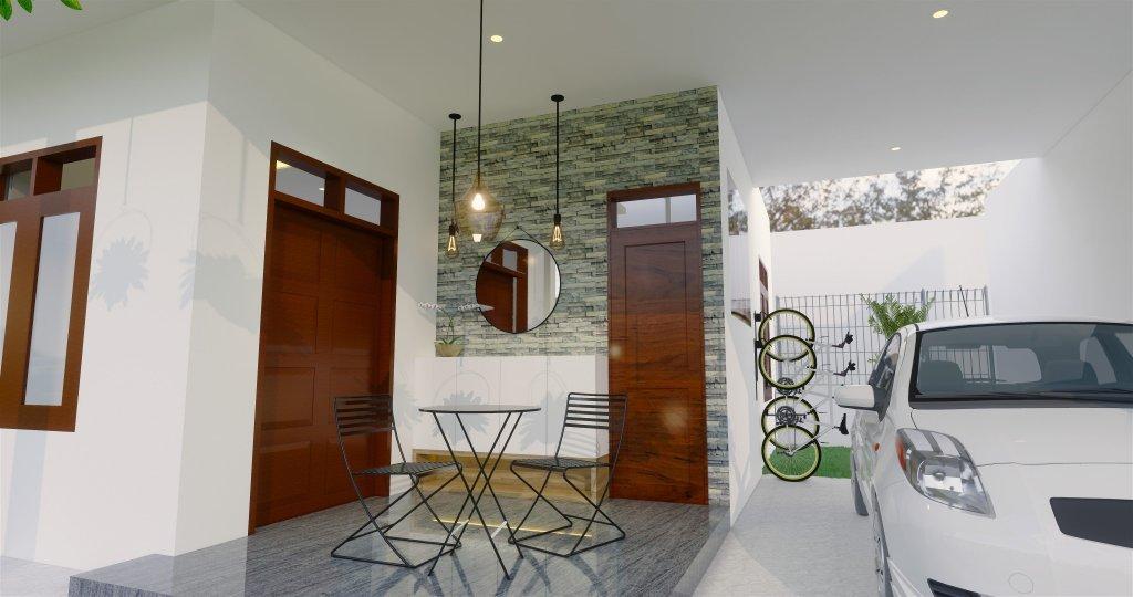 teras rumah gaya modern kontemporer