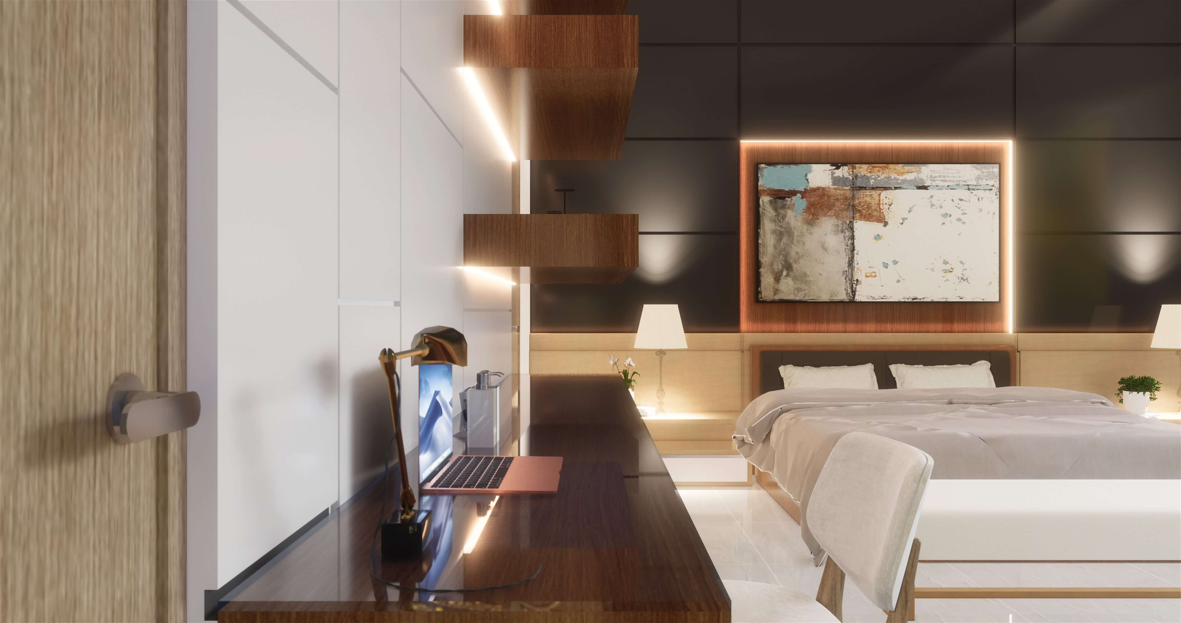 Desain kamar tidur utama modern minimalis