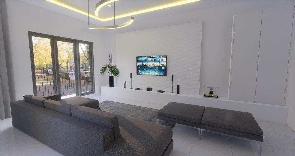 Desain ruang keluarga dengan gaya modern luxury