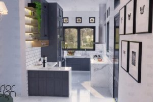 Desain dapur gaya modern classic