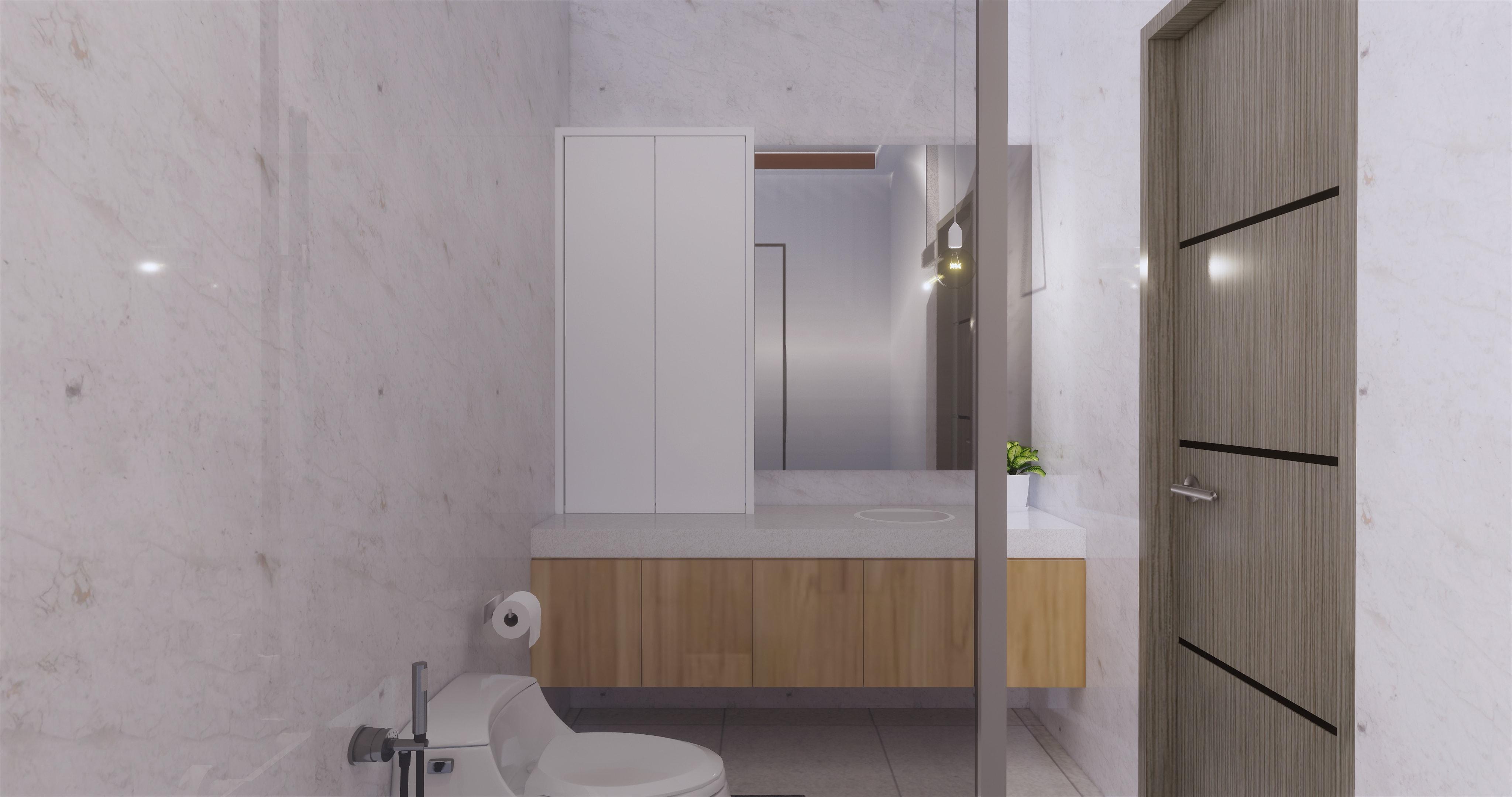 Desain kamar mandi gaya modern