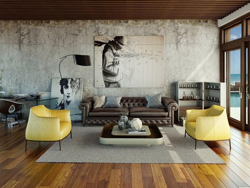 penampilan ruang yang lembut dan santai dengan gaya urban modern