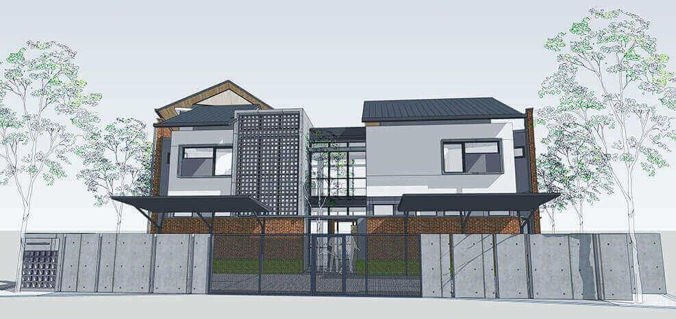 gambar arsitektur rumah tumbuh
