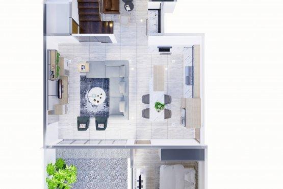 Interior desain rumah modern natural