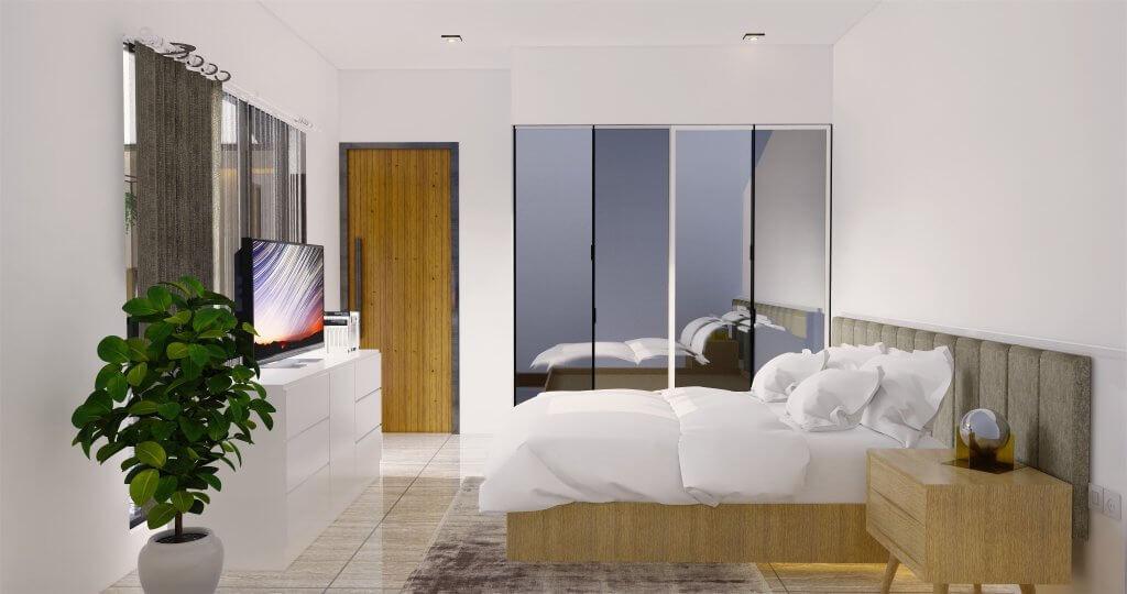 Desain kamar tidur modern natural