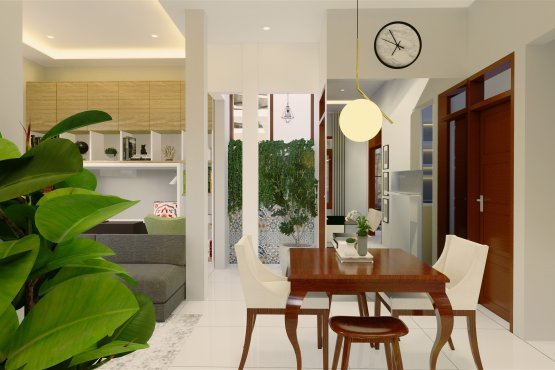 Desain ruang makan kontemporer