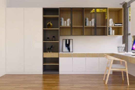 desain interior ruang belajar modern natural