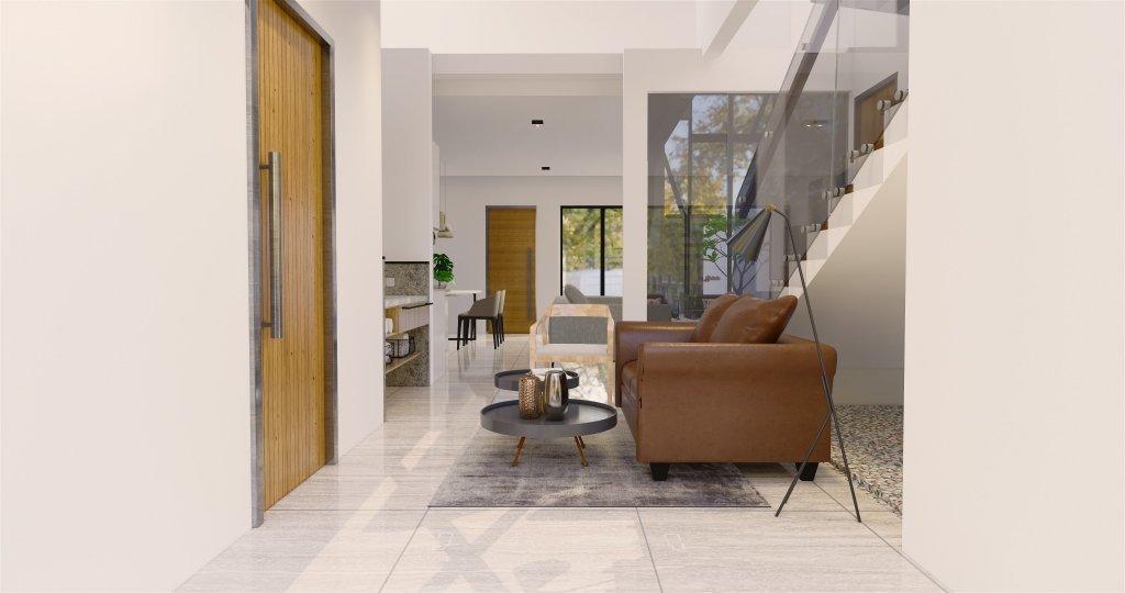 Interiro desain ruang tamu modern natural