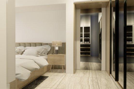 Desain interior kamar tidur modern natural