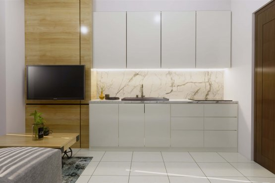 Interior desain dapur modern minimalis