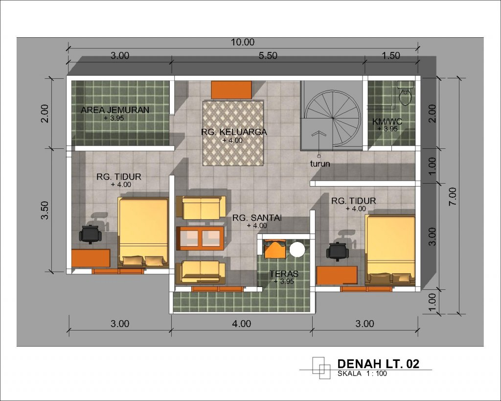 desain rumah minimalis 2 kamar ukuran 6x9 meter