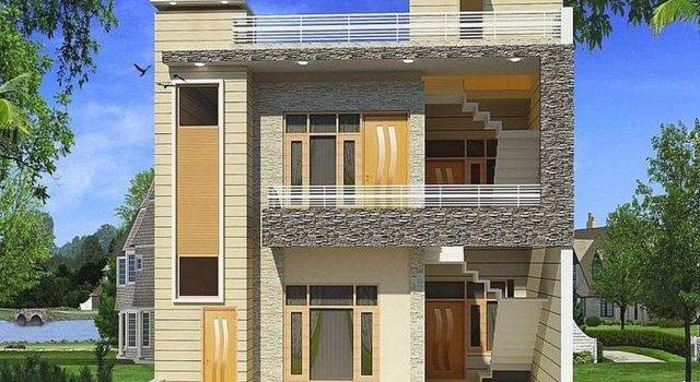 denah rumah minimalis dua lantai