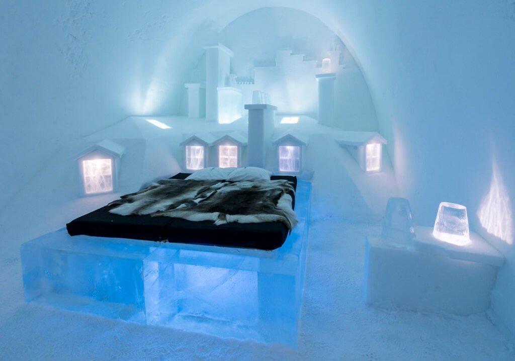 desain kamar hotel unik ice hotel swedia