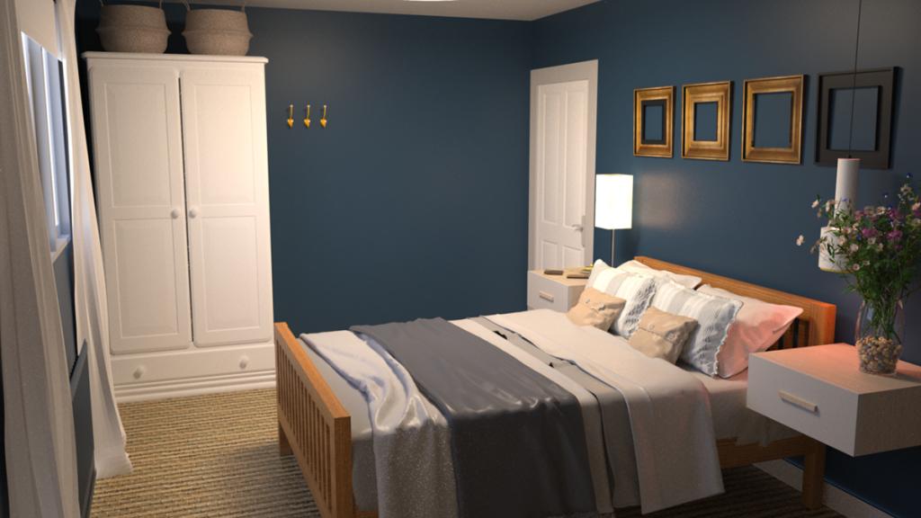 Desain kamar tidur kecil sederhana dengan nuansa minimalis