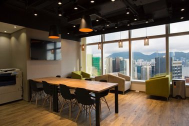 Desain interior coworking space gaya modern kontemporer