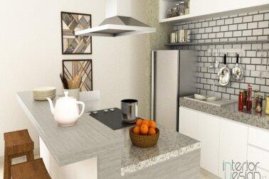 kitchen set; desain dapur modern