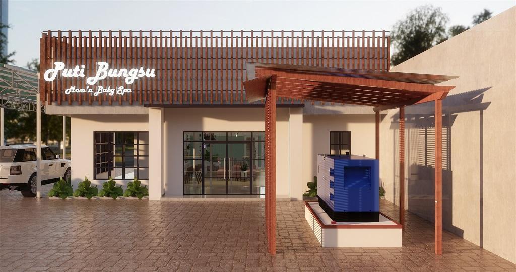 desain fasad spa gaya vintage