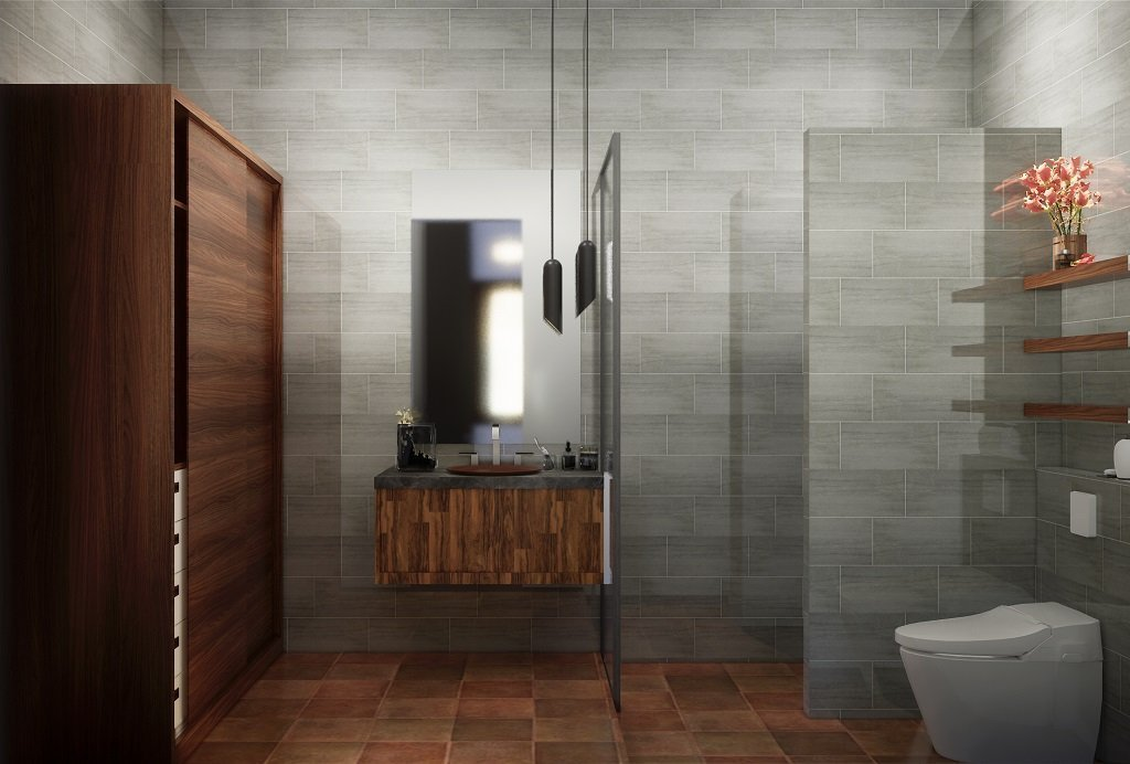 kamar mandi gaya kolonial