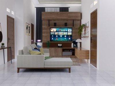 Interior desain rumah dengan nuansa rustic modern
