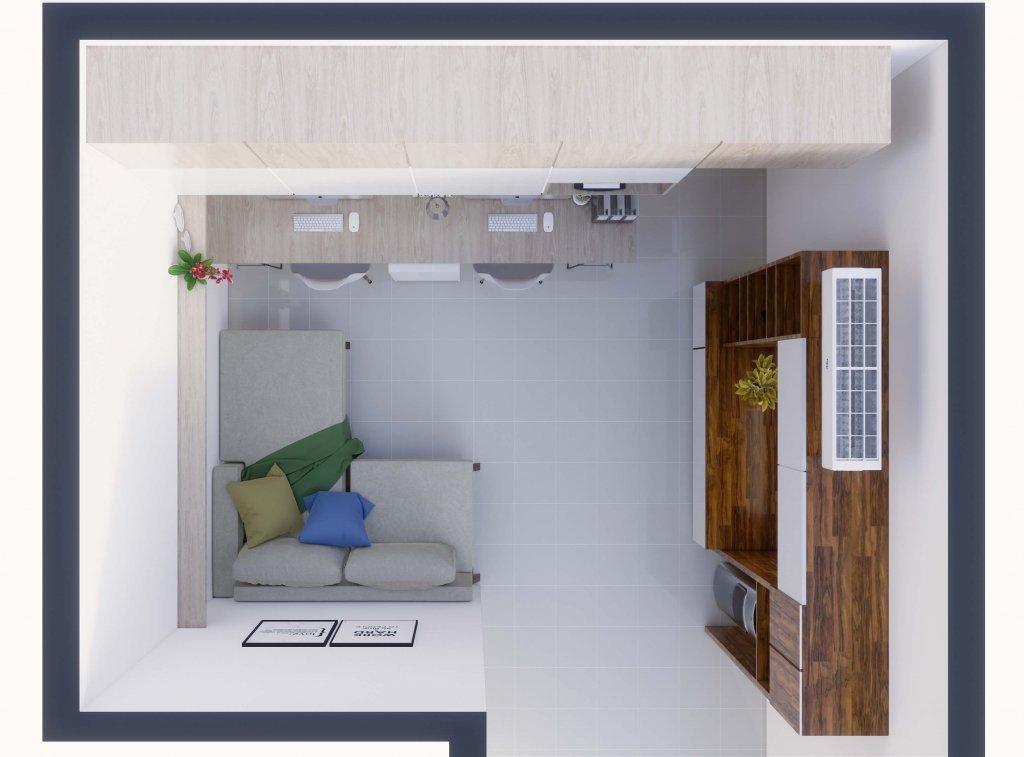 denah apartemen minimalis modern