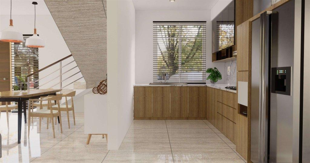 desain dapur gaya modern natural