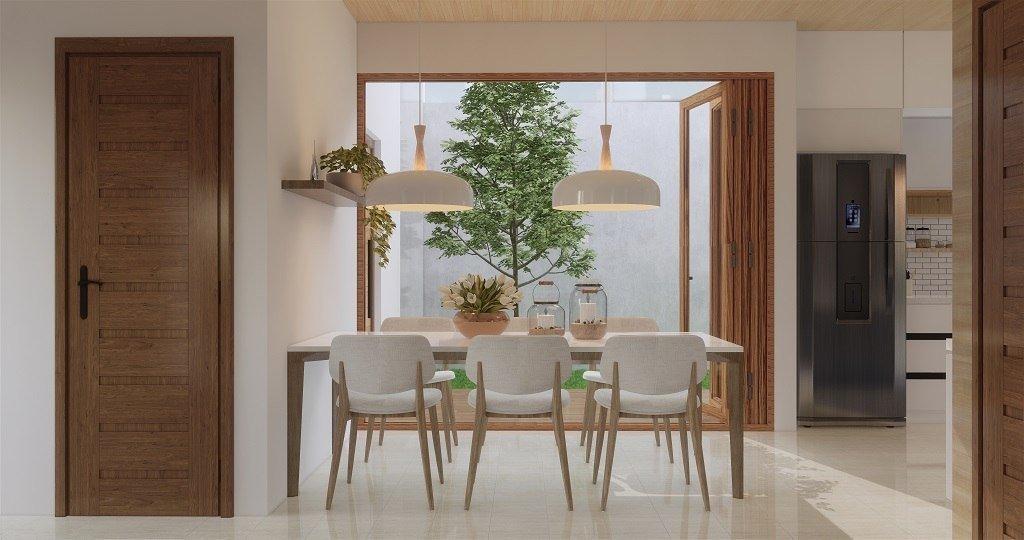 desain ruang makan minimalis-modern