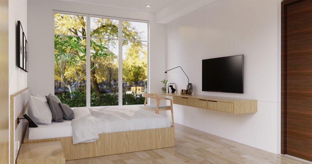 desain kamar tidur utama gaya modern