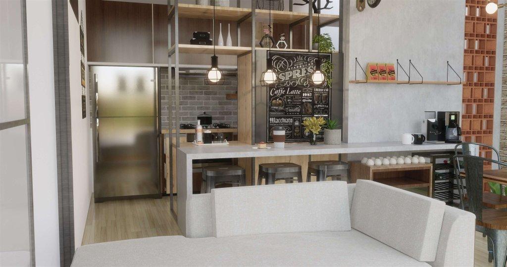 Interior dapur gaya industrial
