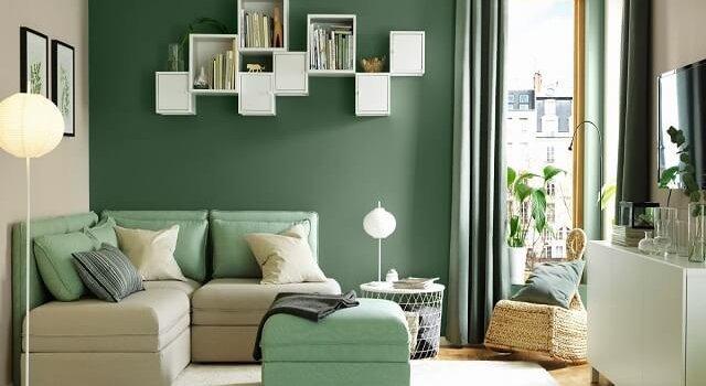 Desain Ruang Tamu Minimalis Ukuran 2x2 tren cat warna hijau pilihan warna ruangan terbaru yang