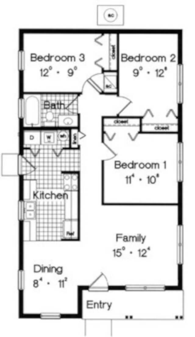 Denah Rumah Minimalis 3 Kamar Tidur Type 36; Murah tapi ...