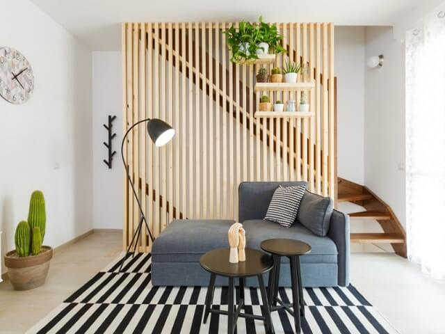 ide desain ruang keluarga dan ruang tamu tanpa sekat