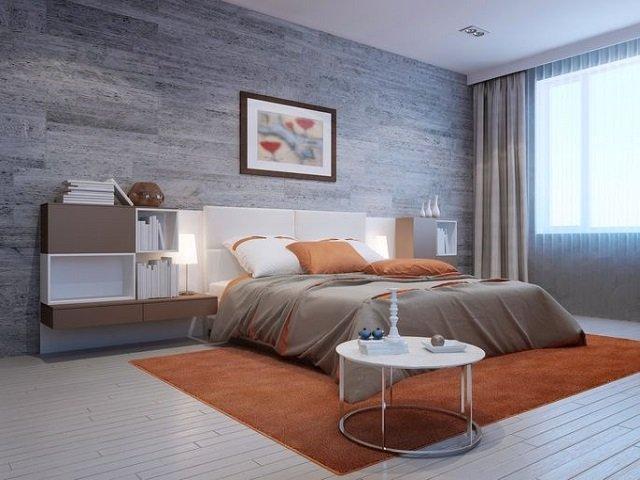 Interior kamar tidur yang menenangkan