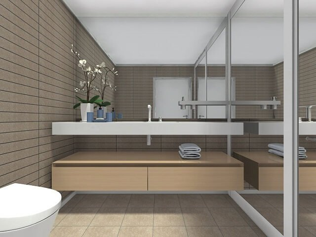 inspirasi desain kamar mandi minimalis tanpa bathtub