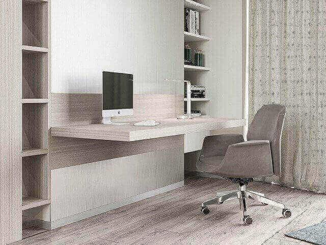 meja kerja minimalis dipasang ke dinding