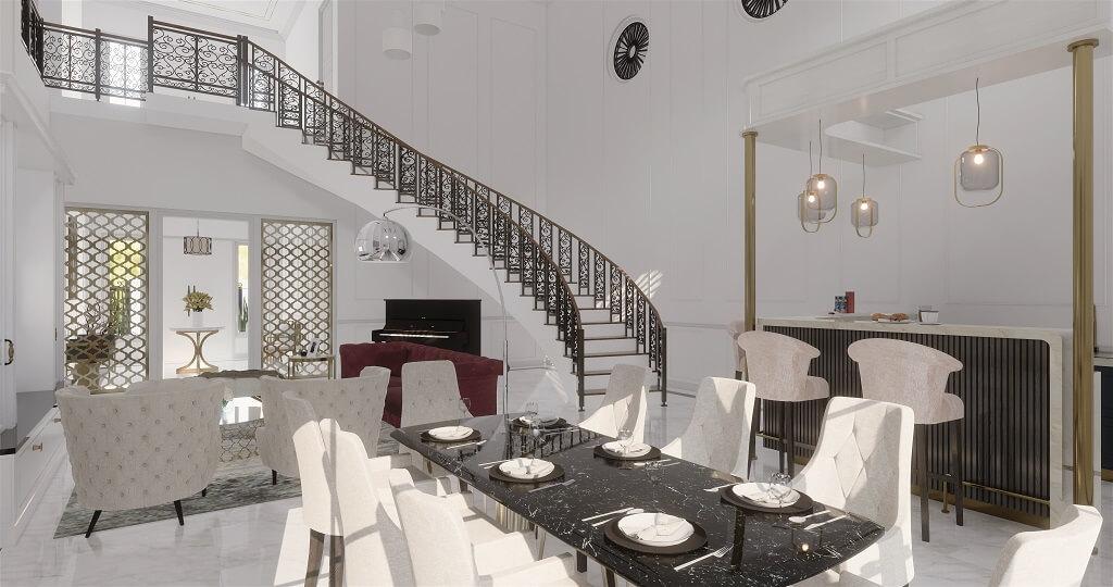 interior ruang keluarga rumah efrati Jakarta