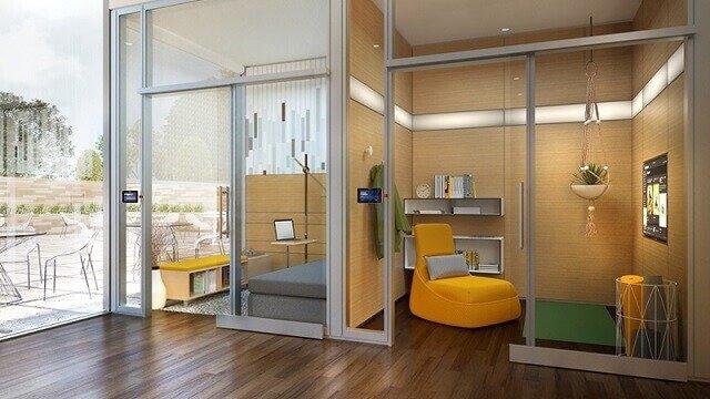 ruang kantor yang dirancang untuk seorang introvert