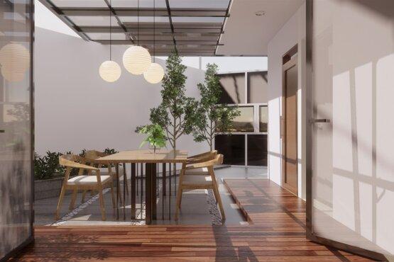 interior rumah gaya modern natural