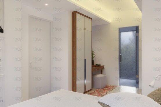 interior kamar tidur gaya skandinavia