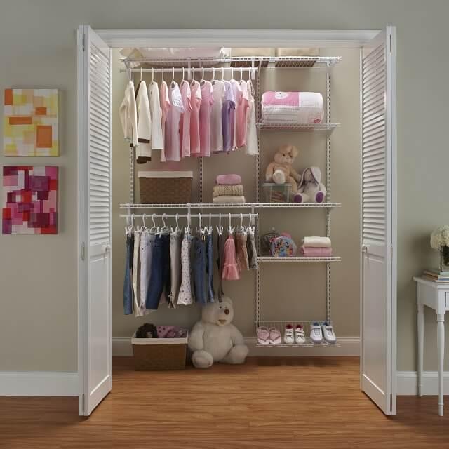 desain wardrobe untuk kamar tidur kecil