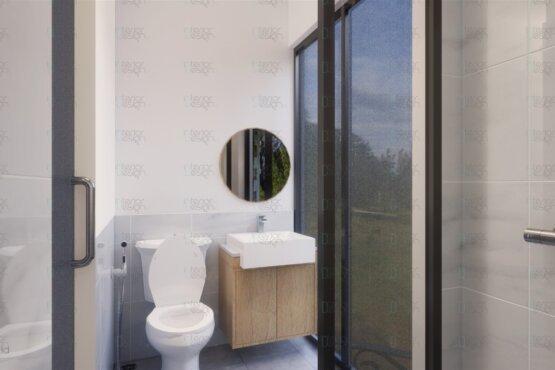 interior kamar mandi gaya skandinavia