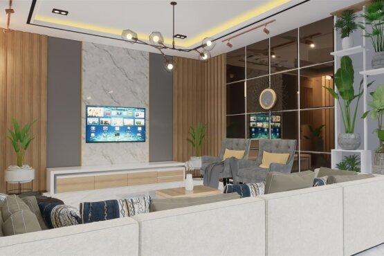 desain interior ruang keluarga modern jakarta